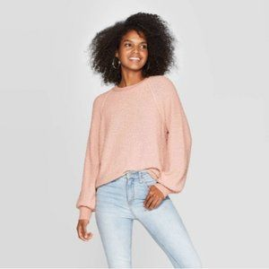 Knox Rose Textured Crewneck Sweater Antique Rose